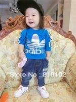 2014 Hot Selling children Autumn long-sleeved sports T-shirt Hoodies Sweatshirts(5pcs/lot)