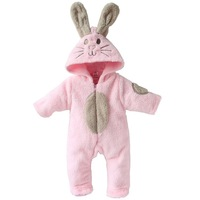 Baby Long sleeve Polar fleece romper  girls cute jumpsuits