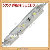 Super Bright 20pcs  DC 12V 3 Leds 5050 SMD Cool White Waterproof LED Module Light Lamp Free Shipping