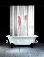 180x180CM Bath Bleeding Hand Shower Curtains Polyester Waterproof Blooding Hand Barthroom Shower Curtain 1PC Free Shipping