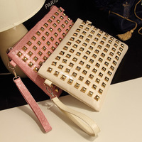 2013 fashion day clutch rivet vintage women's handbag the trend of crocodile pattern messenger bag female