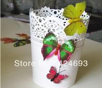 30pcs/lot 4cm 3D Artificial Butterfly  Fridge Magnet for Home decor Christmas Wedding Decoration