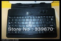 "Stand Keyboard for 7"" apad Android Tablet PC with case/USB/touch pen free shipping, High quality 100pcs"