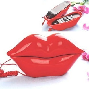 Hot Selling Posantel flaming Lips telephone mobile, mini home phone telephone,3 Colors Creative home telephone number