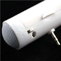 Promotion Freeshipping Fashion Barrel-Style Super Mini Speaker For Ipod,Laptop,Mp3, Phone,Etc. White Color Dropshipping