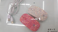 Hot Selling Good Christmas Gift For Girls laptop Wired Mice optical computer USD Diamond Mouse
