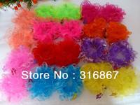 20 Assorted Colors LACE HAIR SCRUNCHIE PONYTAIL ELASTIC GYM SPORT DANCE SCHOOL