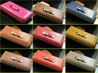 Hot explosion models leather lady long section&Multi-color fold wallet wallet&Women's wallets bag handbag