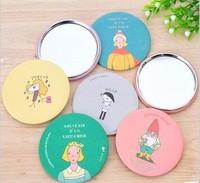 Lot of 10 pcs New  travel Pocket mirror Cartoon metal mirror Cosmetic tool Mini 7cm #922002
