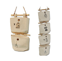 Lot of 4 pcs New Cloth Wall Hanging Storage Bag Organizer #922001