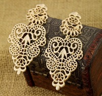 Min Order $18(Can Mix Item) Fashion Metal Hollow Flower Big Drop Earring Design Earrings