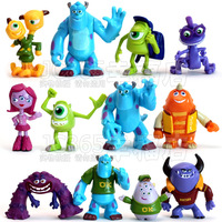 Free Shipping 12pcs Set Monsters Inc. Monsters University Mike Sully PVC Figure Toy