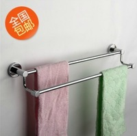 Free shipping  50 - 60 cm Lengthen Stainless steel Double Washing room Towel bar Bathroom Hanging  Towel rack Quality