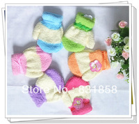 Baby gloves baby gloves infant child gloves autumn and winter thickening halter-neck thermal
