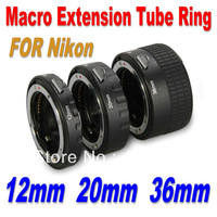 Automatic Auto Focus Macro Extension Tube Ring AI DSLR & SLR Camera Lens for Nikon D7100 D5000 D3000 D3 free shipping