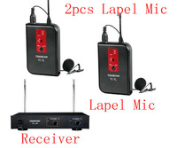 TC-2R Lavalier VHF Wireless Microphone Receiver TC-TL VHF wireless lapel 2pcs Clip wireless Mic From China Takstar Factory