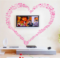 Free Shipping 191 love wall stickers sofa tv decoration sticker