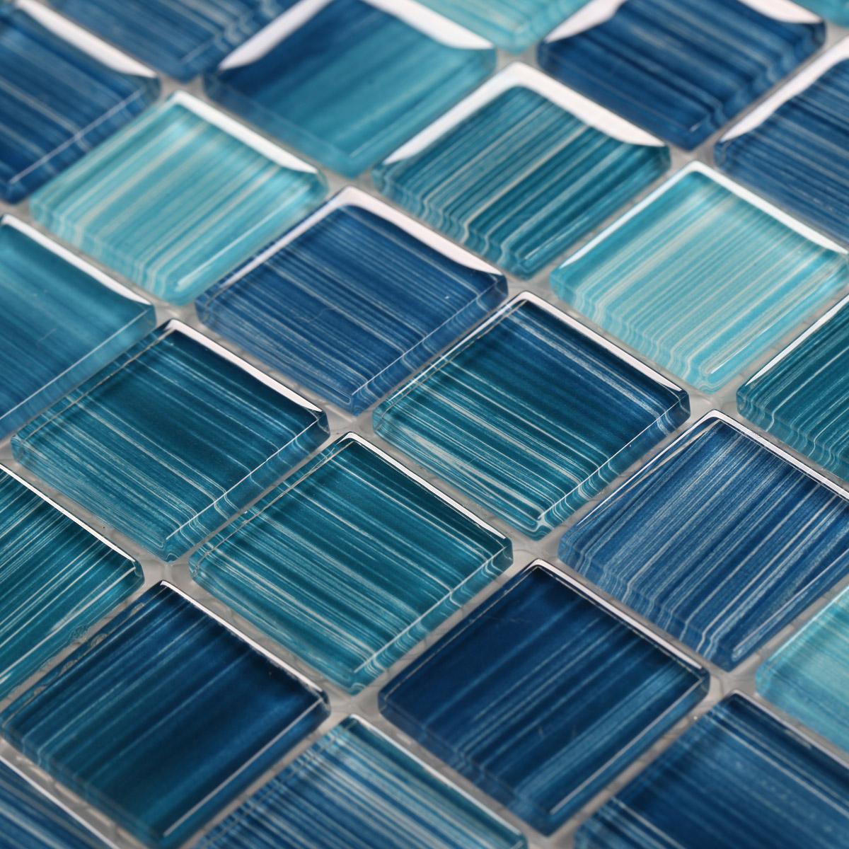 #0C2E49  mosaico de vidro cristal telha telhas do banheiro mosaicos cozinha.jpg 1200x1200 px Melhorias Na Cozinha_457 Imagens