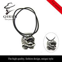 Hip-hop vintage eagle design stainless steel pendant necklace for men QR-73