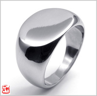 Fashion accessories glossy male brief titanium ring finger ring 73615
