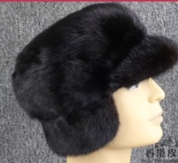 Free shipping Men can ear the whole mink fur hat warm winter mink mink hat hat Lexus