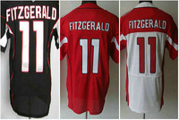 factory free shipping 2013 black red white Larry Fitzgerald jersey 11# number n name sewn on man 40 44 48 52 56 m l xl xxl xxxl