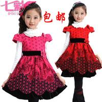 2013 female child autumn and winter one-piece dress tank dress princess dress