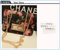 2013 new Korea  canvas printing OL casual shoulder bag ,fashion women tote bag chains shoulder belt  wholesale item #6472