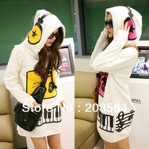 [해외]Women Cute Lovely Music Hoodie Coat Funny Cap Earp..