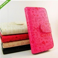 For  LG P920 Optimus 3D Credit Card Cute Magic Girl Little Witch Flip Leather Case Cover ,Free Shipping