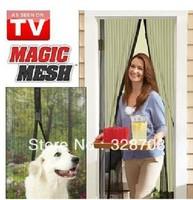 Free Shipping 120pcs/lot HIGH QUALITY Magic Mesh Instant Screen Door As Seen On TV Magic Mesh Hands Free Screen Door 1MX2.1M