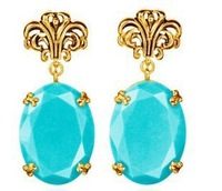 #0019 Free shipping Min order $10 ( Mix orders ) Trend luxurious vintage Earring Factory Price