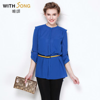 Women's thin air conditioner chiffon shirt autumn