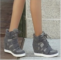 [Free shipping] 2013 New arrival fashion female elevator yeh sports casual high-top shoes big size women's sneakers