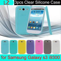 Free Shipping with tracking number For Samsung Galaxy S3 i9300 Phone Case Silicon 7 colors 3pcs / lot + Water/Dirty/ Shock Proof
