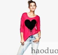Free shipping women t shirt lady 100%cotton Soft mercerized cotton sleeve T-shirt