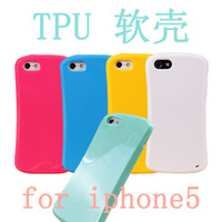 Case for Iphone 5 Silica Gel Phone Case Iphone5 Phone Case TPU Candy Iphone4 Mobile Phone Case 10Pcs/Lot Free Shipping 2013