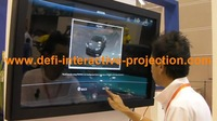 "4 real touch points IR multi touch frame 32"" Screen Panel/frame with glass 16:9 format Quick Shipping"