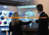40 interactive touch foil By placing a rear projection foil or LCD display behind it, you can create an interactive touch screen