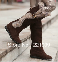 2013 winter  Snow boot  women flat snow shoes PU lady shoes sole  stitched warm boot  Free of shipping