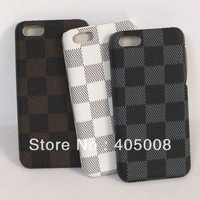 Hot selling New Fashion Double Color Lattice Back Case Cover for iPhone 5C Free shipping & Wholesale
