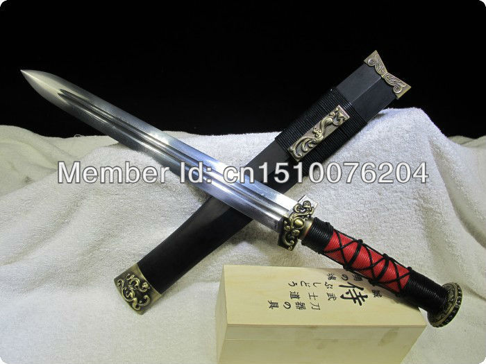 handmade Hand forged,Damascus style,carbon steel folding,Chinese Han Dynasty sword ems Free Shipping(China (Mainland))