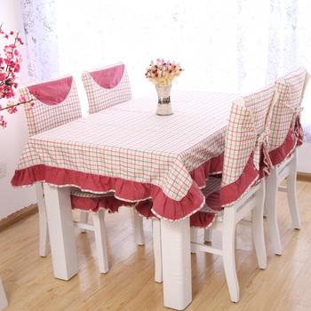 Table cloth fashion cloth rustic chair cushions table mat fashion plaid dining chair set customize
