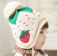 2013 new children's skullies beanies wool cotton knitting star label hat cap children 1-5 years old adjustable