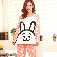Female Winter And Fall Clothing Cotton Pajamas Long Sleeve Cartoon  For Girls