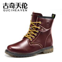 Free shipping 2013 new women's fashion martin boots trend genuine leather ankle boots cool motorcycle boots wearable shoes 35-39