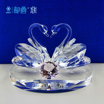 Crystal swan a pair of fashion wedding gift christmas home accessories decoration wedding gift