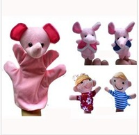 5pcs/set World Nursery Rhyme Puppets-Elephant Plush Finger Puppets,glove-puppets,Stuffed dolls For Kids Talking Props