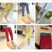 2013 autumn chromophous showiest of modal color block decoration slim female n24 legging  free shipping