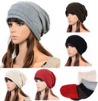 20pcs/lot Unisex hat knitted Crochet Ski Hats winter Beanie hat cap headwrap